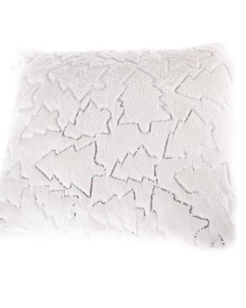 Dakls Biela obliečka na vankúš s vianočnými motívmi Dakls, 40 x 40 cm