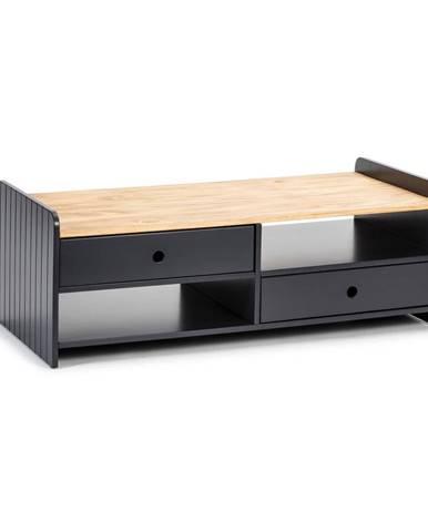 Sivý konferenčný stolík s doskou z borovicového dreva Marckeric Monte