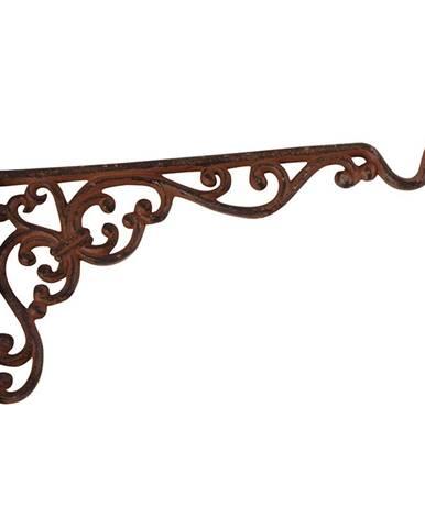 Nástenná liatinová konzola so závesom na kvetináč/kŕmidlo Ego Dekor, výška 18,8 cm