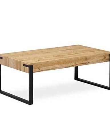 Konferenčný stolík CARLITO dub divoký/čierna