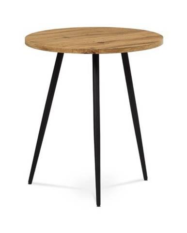 Prístavný stolík LUGO divoký dub/čierna