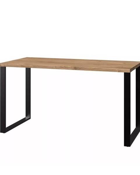 Sconto Písací stôl MERSEY doskový dub/grafit