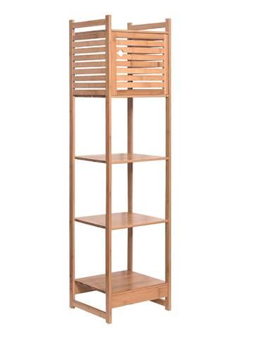 Regál prírodný bambus SELENE TYP 3