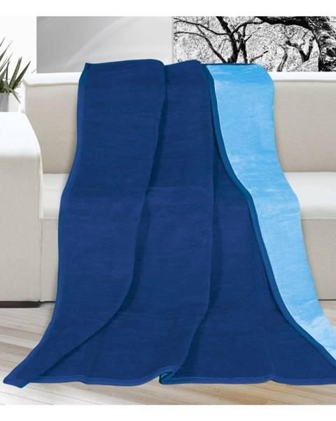 Bellatex Bellatex Deka Kira modrá/svetlo modrá, 150 x 200 cm