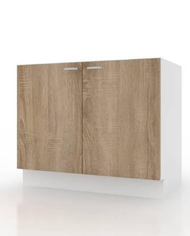 Spodná drezová skrinka POLAR II dub sonoma/biela, 80 cm