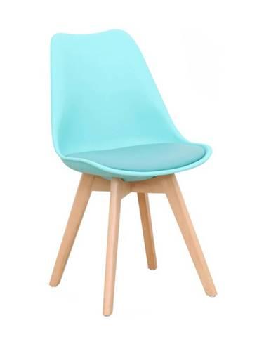 Stolička mentol/buk BALI 2 NEW