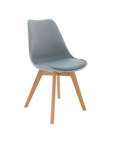 Stolička sivá/buk BALI 2 NEW