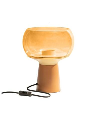Oranžová kovová stolová lampa BePureHome, výška 28 cm