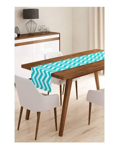 Behúň na stôl z mikrovlákna Minimalist Cushion Covers Blue Stripes, 45×145 cm