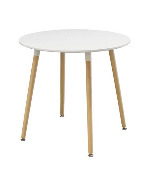 IDEA Nábytok Jedálenský stôl priemer 80 UNO biely