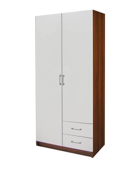 IDEA Nábytok Skriňa ESO 2-dverová 61521 orech/biela
