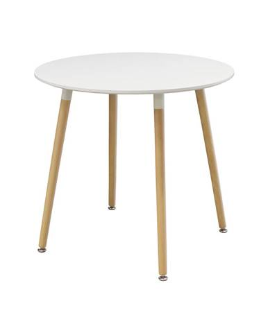 Jedálenský stôl priemer 80 UNO biely