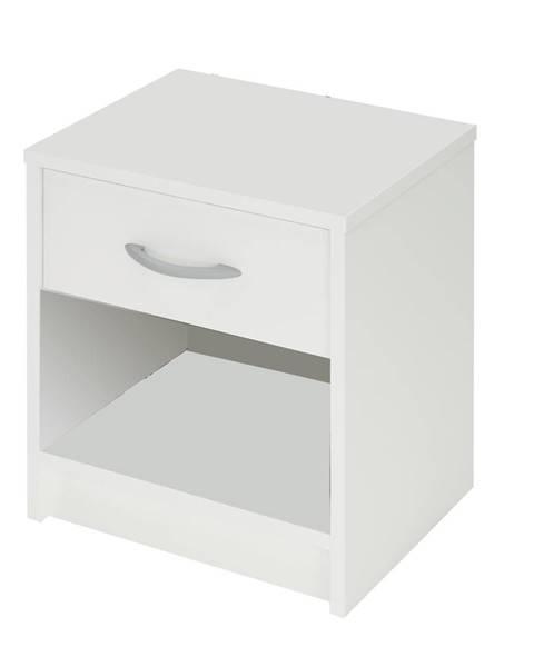 IDEA Nábytok Nočný stolík biely