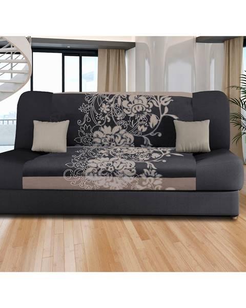 IDEA Nábytok Pohovka VICTORIA sivé kvety