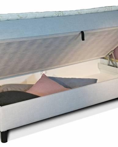 New Design  Čalúnená posteľ NOVO s krátkym čelom