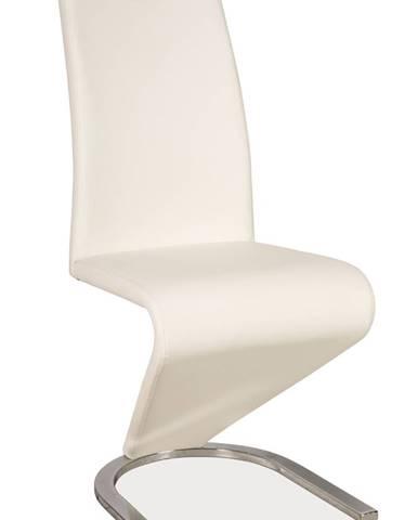 Signal Jedálenská stolička H-090 chróm / biela