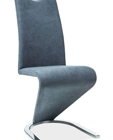 Signal Jedálenská stolička H-090 chróm / čierna