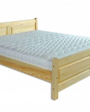 Drewmax Manželská posteľ - masív LK115 / 160 cm borovica