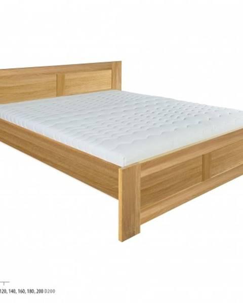 Drewmax Drewmax Manželská posteľ - masív LK212 | 140 cm dub