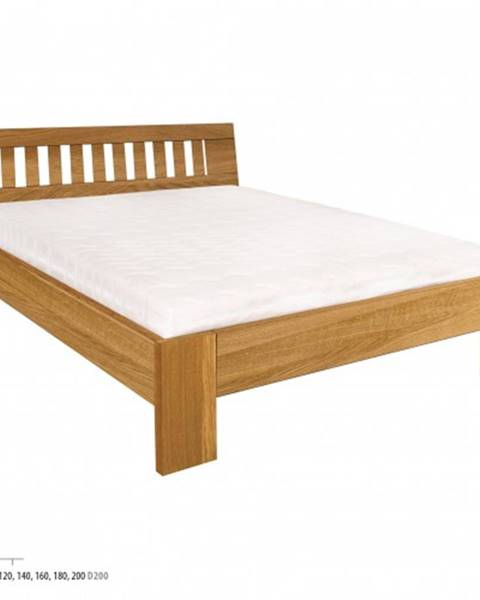 Drewmax Drewmax Manželská posteľ - masív LK293 | 160 cm dub