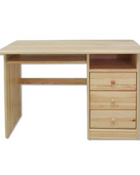 Drewmax Písací stôl - masív BR106 | borovica