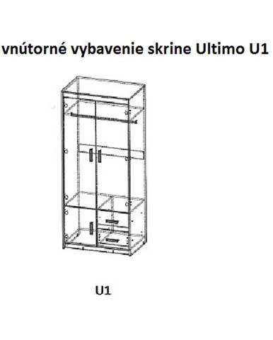 Dolmar Šatníková skriňa ULTIMO U1