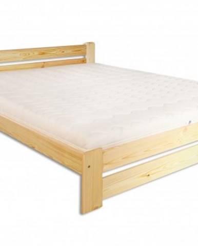 Drewmax Manželská posteľ - masív LK118 / 140 cm borovica