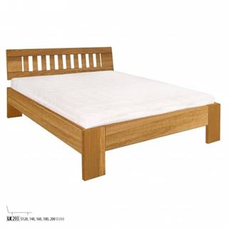 Drewmax Manželská posteľ - masív LK293 | 160 cm dub