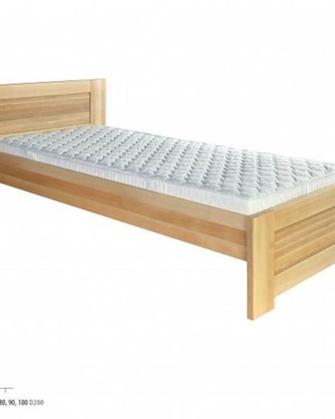 Drewmax Drewmax Jednolôžková posteľ - masív LK161   80 cm buk