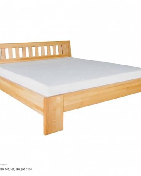 Drewmax Drewmax Jednolôžková posteľ - masív LK193 | 120 cm buk