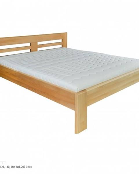 Drewmax Drewmax Manželská posteľ - masív LK111   200 cm buk