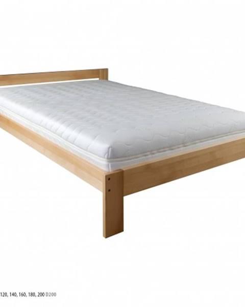 Drewmax Drewmax Manželská posteľ - masív LK194   200 cm buk