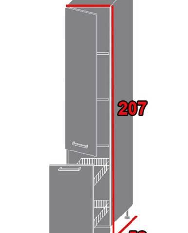 ArtExt Kuchynská skriňa Napoli 2D14K/40 kargo POVRCHOVÁ ÚPRAVA DVIEROK