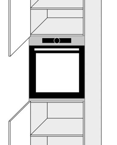 ArtExt Kuchynská skriňa Napoli D14/RU/2D POVRCHOVÁ ÚPRAVA DVIEROK