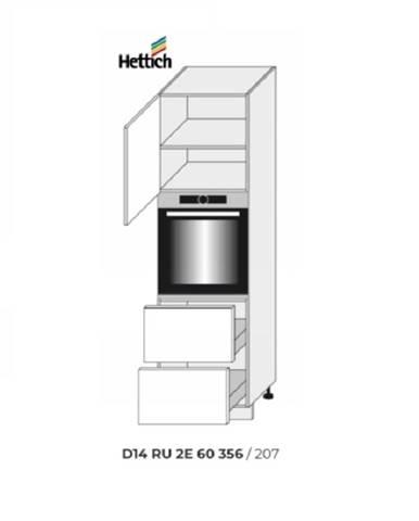 ArtExt Kuchynská skriňa Napoli D14/RU/2E 356 POVRCHOVÁ ÚPRAVA DVIEROK