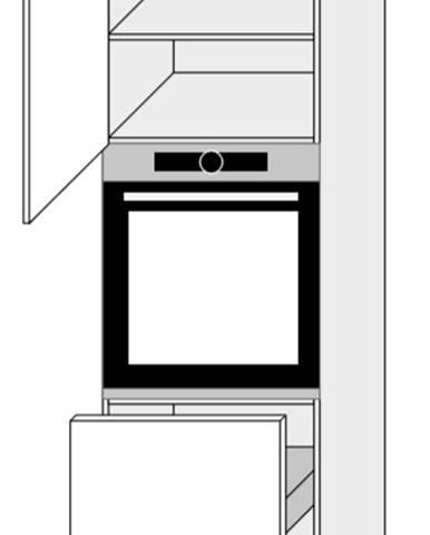 ArtExt Kuchynská skriňa Napoli D14/RU/2M 356 POVRCHOVÁ ÚPRAVA DVIEROK