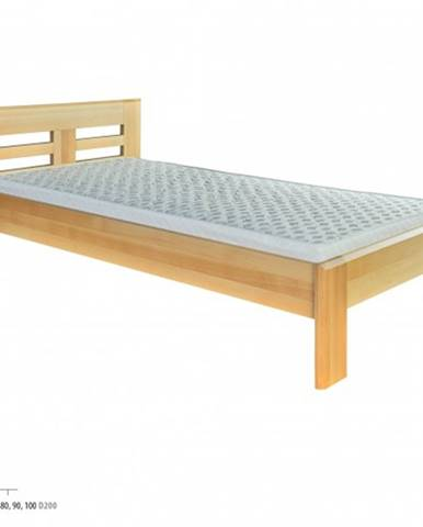 Drewmax Jednolôžková posteľ - masív LK160   80 cm buk