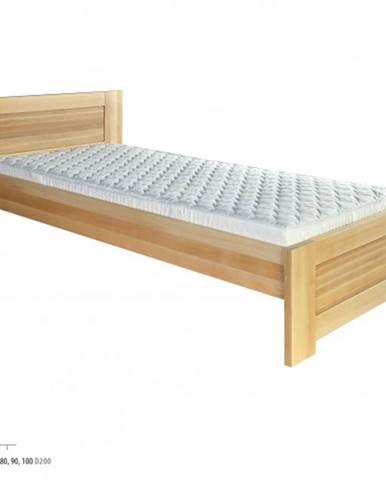 Drewmax Jednolôžková posteľ - masív LK161   80 cm buk