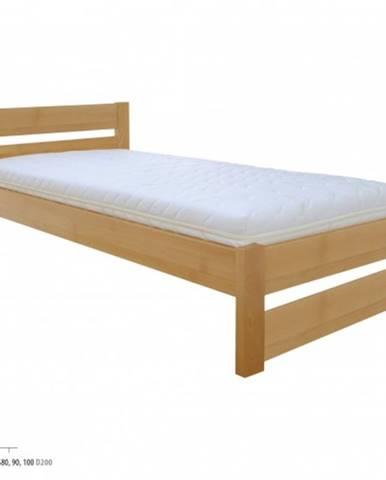 Drewmax Jednolôžková posteľ - masív LK180   80 cm buk