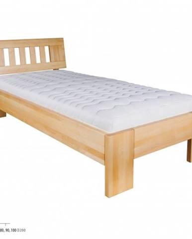Drewmax Jednolôžková posteľ - masív LK183   80 cm buk