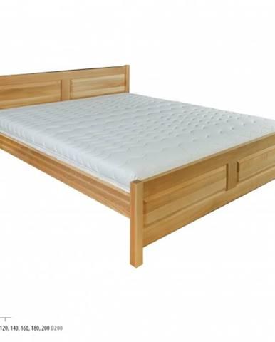 Drewmax Manželská posteľ - masív LK109 | 140 cm buk