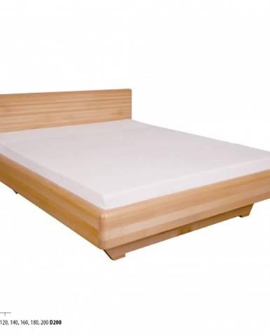Drewmax Manželská posteľ - masív LK110 | 180 cm buk