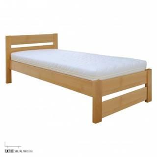 Drewmax Jednolôžková posteľ - masív LK180 | 80 cm buk