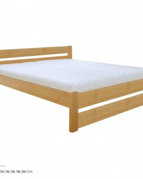 Drewmax Manželská posteľ - masív LK190   120cm buk