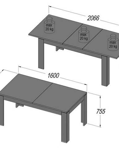 Forte Jedálenský stôl Note WLT16