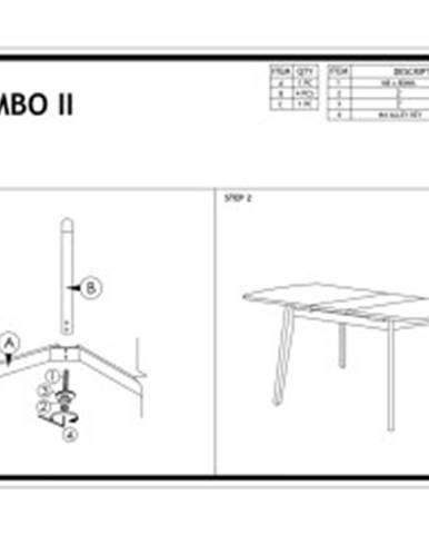 Signal Jedálenský rozkladací stôl COMBO II/ bielený dub