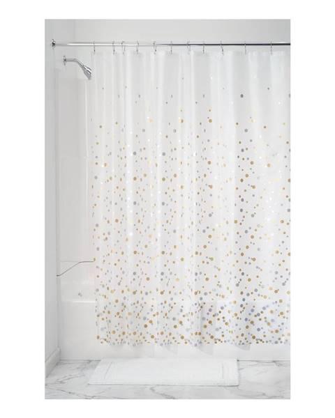 iDesign Priehľadný sprchový záves iDesign Confetti, 183 x 183 cm