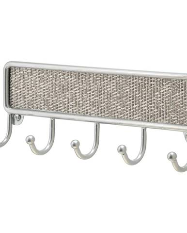 Kovový vešiak na kľúče iDesign Twill, 21 x 14 cm