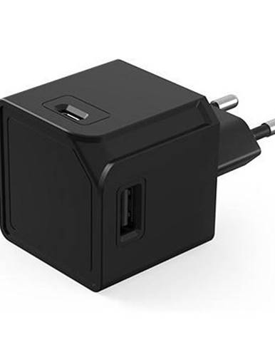 Nabíjačka do siete Powercube Original 2x USB, 2x USB-C čierna