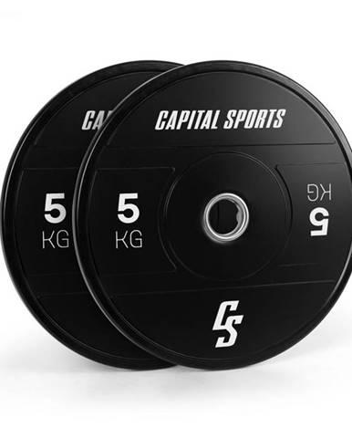 Capital Sports Elongate 2020, kotúče, 2 x 5 kg, tvrdá guma, 50,4 mm